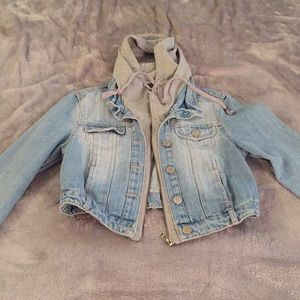 Cropped Jean Jacket with Hood